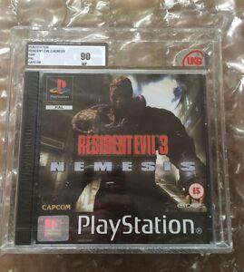 NEW-FACTORY-SEALED-Resident-Evil-3-Nemesis-UKG-VGA-classe-90-Playstation-1-PS1
