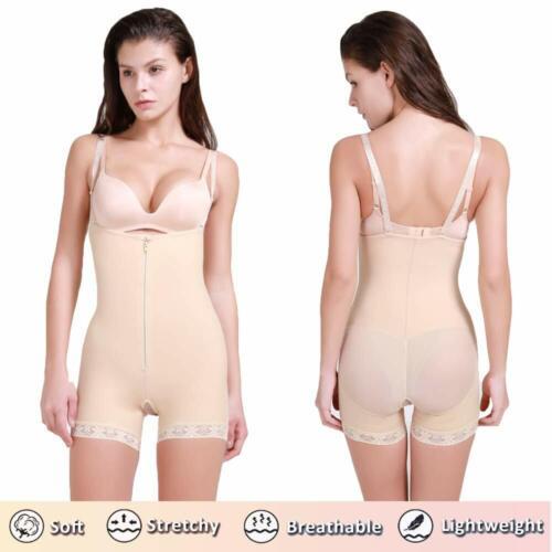 Women/'s Seamless Removable Strap Shapewear Tummy Control Thigh Slim Body Shaper