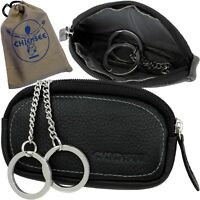 Chiemsee Unisex Key Case Pouch Key Wallet Leather Black