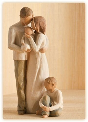 Willow Tree Mother /& Father with Baby /& Son Figurine Gift Set Family Group