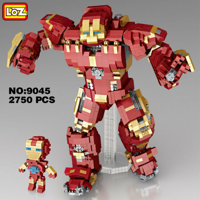 loz marvel avengers iron man hulkbuster diy mini diamond building