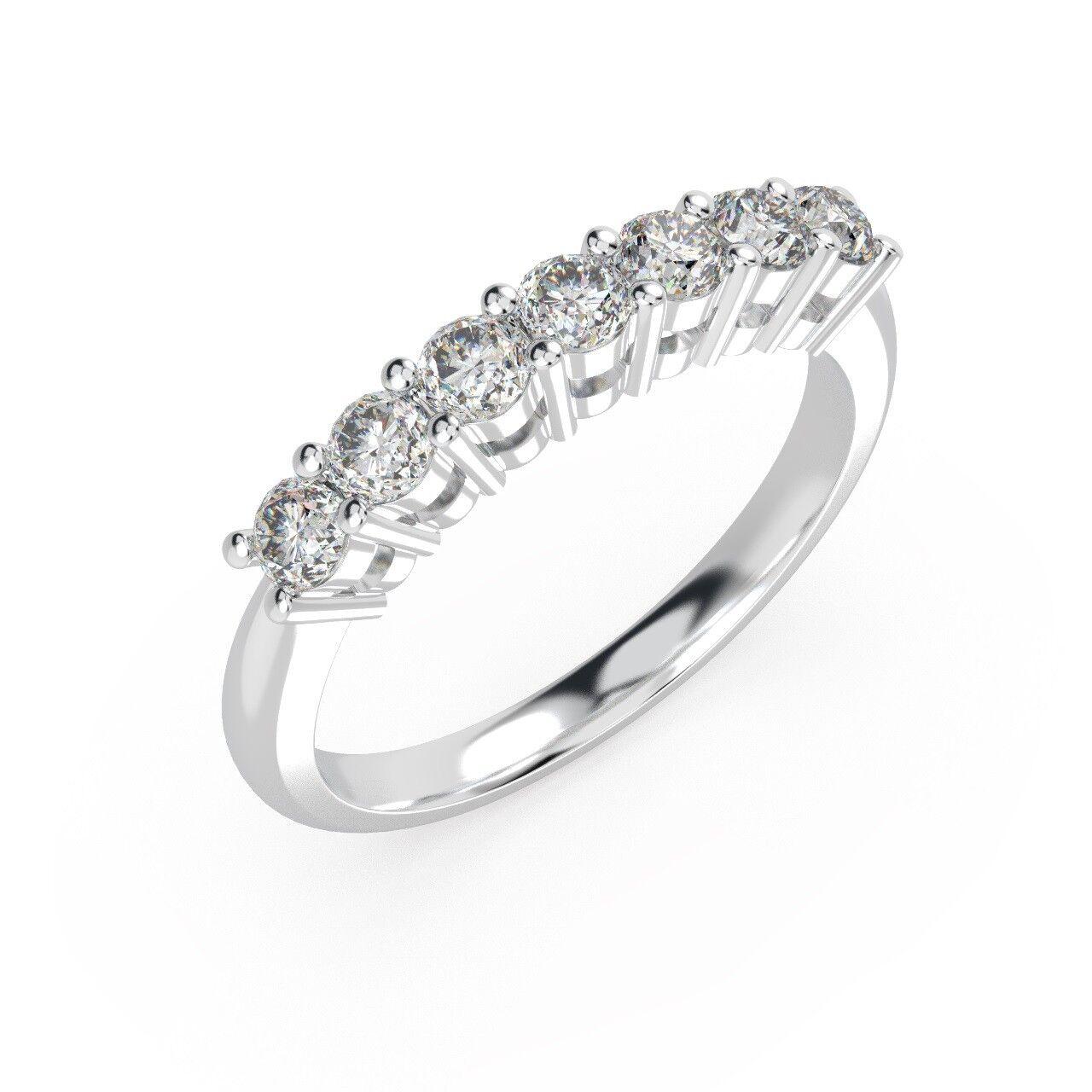 4b166f101f0c Clearance.. 1 4 Ct 7 Round Diamonds Half Eternity Ring