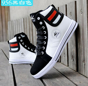 f52e5625896e 2019 HOT SALE Men s Shoes Fashion Leather Shoe Casual High Top ...