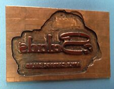 Vintage Letterpress Brass Print Plate Salads Apple Cabbage Salad