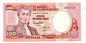 Colombia-100-pesos-oro-1991-FDS-UNC-Pick-426-e-Lotto-2936
