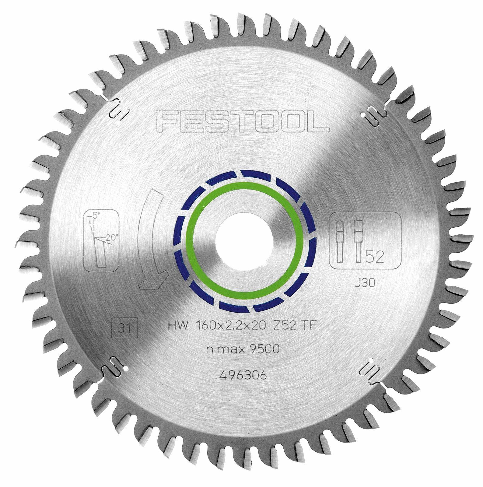 Festool Spezial-Sägeblatt 160x2,2x20 TF52   496306