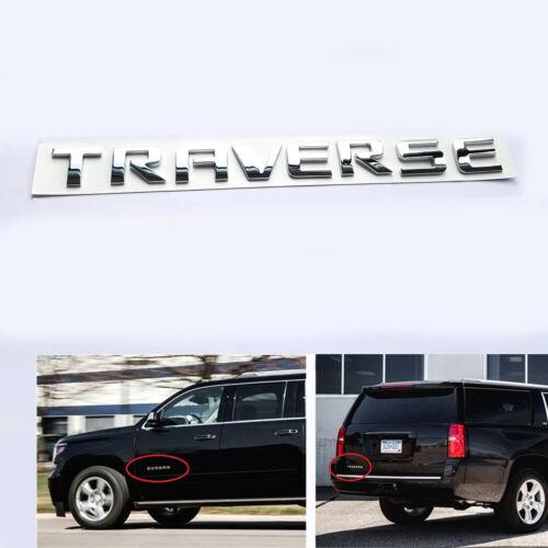 1x OEM TRAVERSE Emblem Letters Badge 3D logo for Chevrolet A1 Chrome 20896270