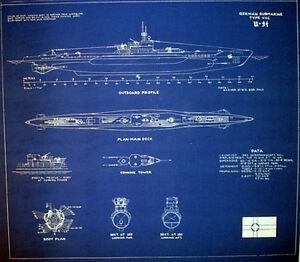 German submarine u 94 type viic u boat blueprint plan 20x22 213 ebay image is loading german submarine u 94 type viic u boat malvernweather Gallery