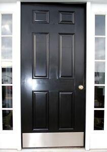 "Lot of 5 Ives 12417 8400 32D 8"" x 33"" B4E Metal Door Kick Plate STAINLESS STEEL"