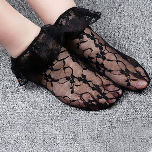 Women Lady Ankle Socks Girls Retro Lace Ruffle Frilly School Short Socks Popular