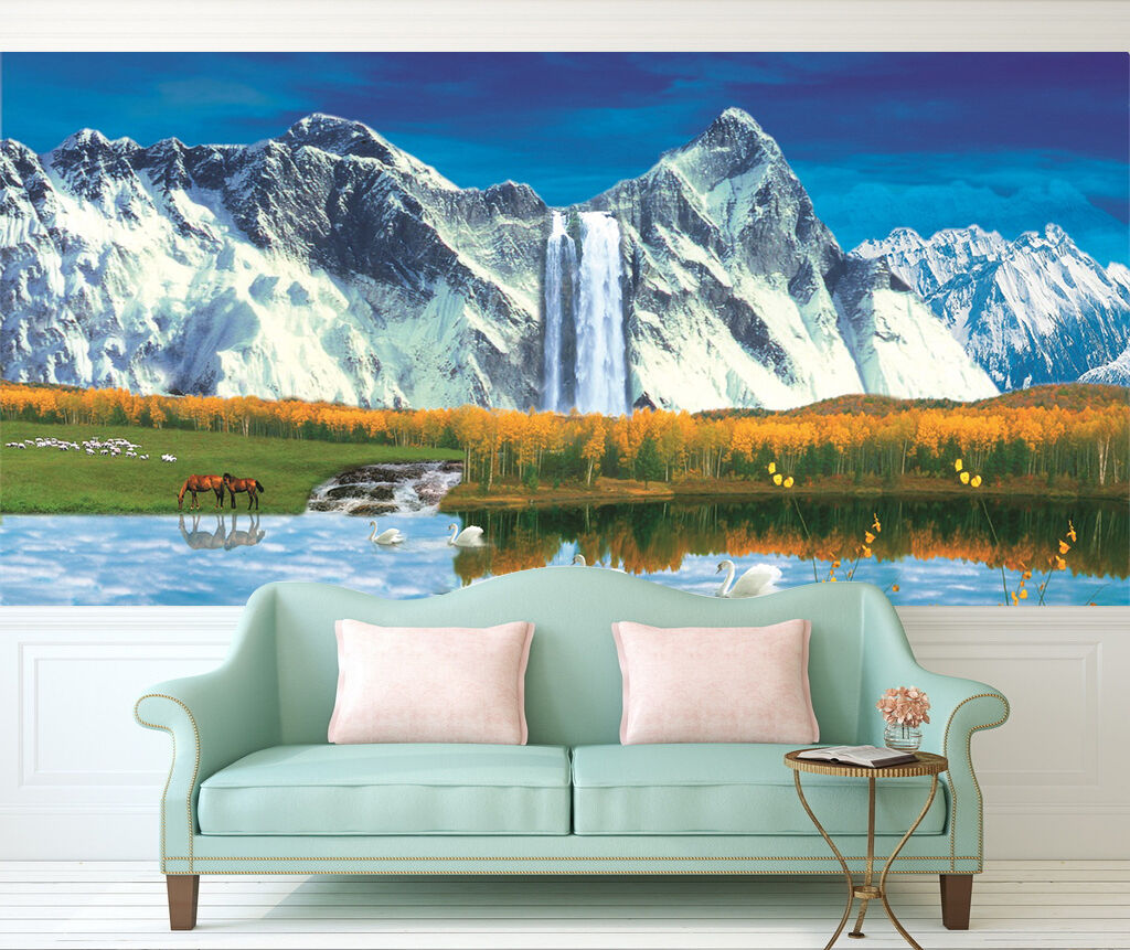 3D Oasis Scenery 823 Wall Paper Wall Print Decal Wall Deco Indoor AJ Wall Paper