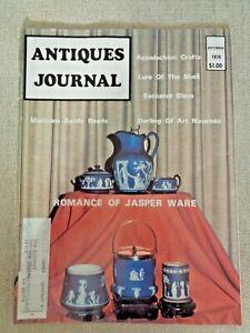 Antiques-Journal-Seashells-Medicine-Bottle-Beads-Wedgwood-Jasper-Ware-Baccarat