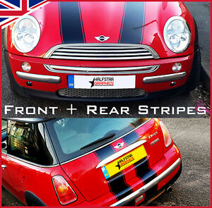 MINI-ONE-MINI-COOPER-FRONT-AND-REAR-STRIPES-VINYL-DECALS-STICKERS-BONNET-BOOT
