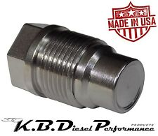 Race Fuel Rail Valve Plug for Chevy GMC 6.6l Duramax 05-10 & Dodge 6.7l Cummins