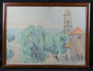 Marcel-So-So-aka-Coucy-1885-1964-School-Crozant-Village-of-Piana-Corsica