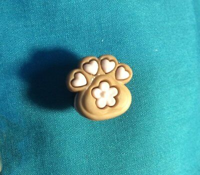 Cute Little Puppy DOG Black n Brown PAW PRINTS Animal Holey Clog Shoe Charms