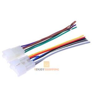 2pcs stereo cd player radio wiring harness wire adapter plugs for rh ebay com