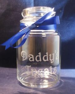 1 personalized engraved glass candy jar with dome lid 26 ounce size