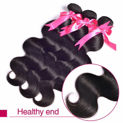 Body Wave Brazilian Virgin Human Hair Weave 1 and 3 Bundles 9 Colors