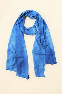 BRAND NEW HANDMADE EXTRA LONG BLUE TIE DYE SCARF SARONG COVER FREE POST / SCL001