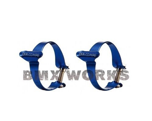 25.4mm or 31.8mm Sold in Pairs Genuine Dia-Compe Cable Clamps Blue 28.6mm