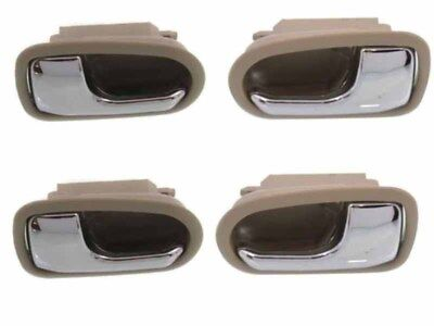MAZDA 626 and Protege 93-03 Front and Rear Inner Door Handle Chrome and Beige LH