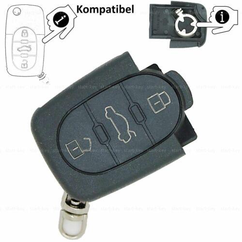 Audi auto plegable carcasa llave batería 2x cr1620 a3 8l 8p a4 b6 a6 c5 a8 4d