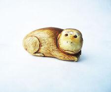 Antique Japanese Traditional Hand Carved Miniature Cute Monkey Netsuke Figurine