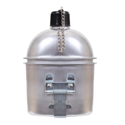 1 Quart Aluminum Canteen With Safety Chain GI Style 414 Rothco