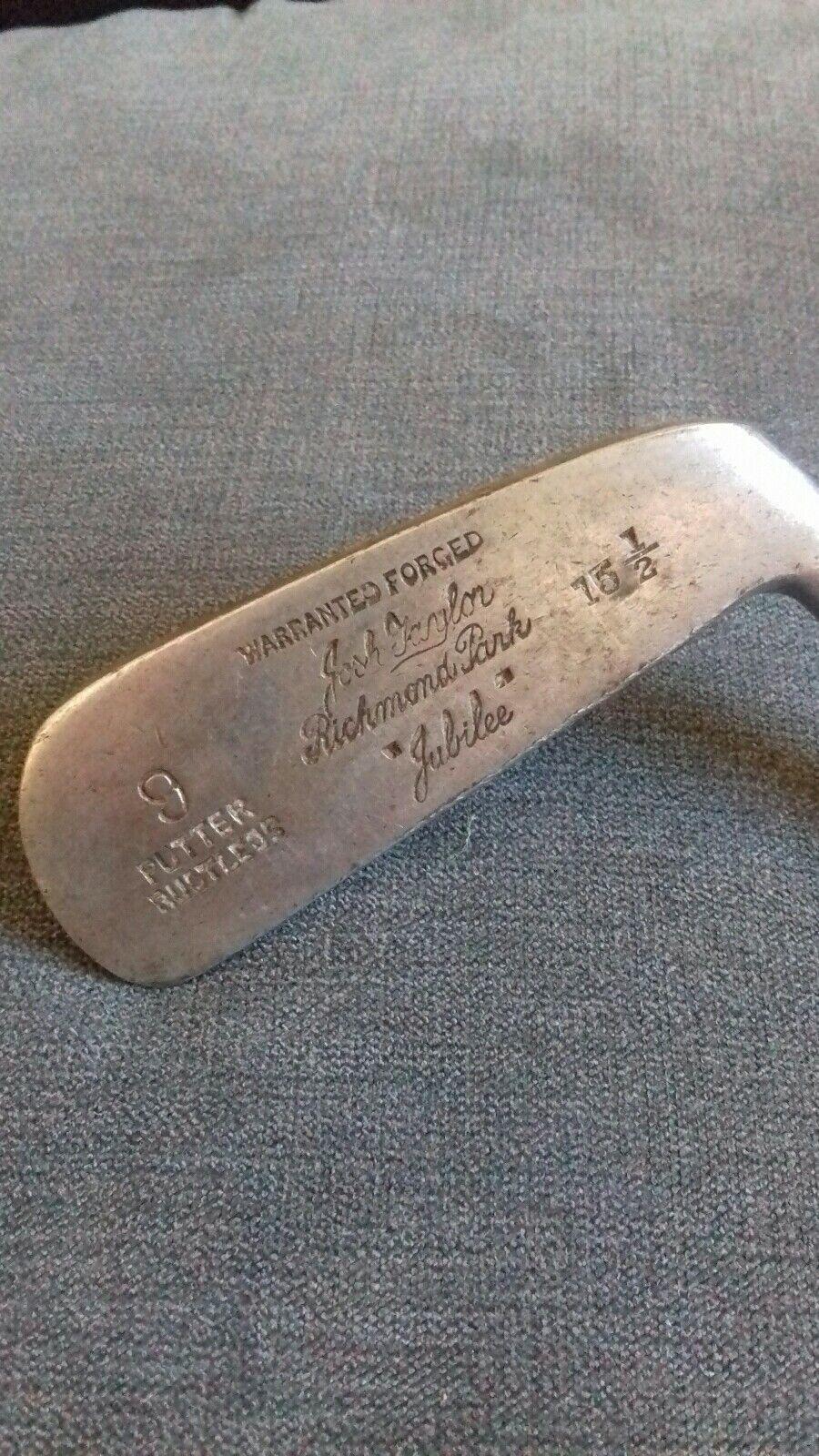 Vintage Josh Taylor Richmond Park  jubilee  putter 9 iron ,RARE.