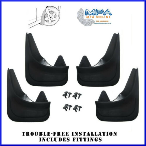 SET OF 4 MUDFLAPS FOR VOLVO C30 S40 V40 MOULDED UNIVERSAL FIT