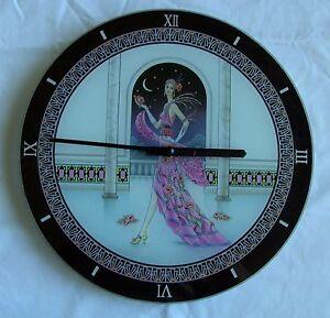 Lesser-amp-Pavey-12-034-Verre-LOVELY-034-Charleston-034-Horloge-Murale-Inutilise-amp-boxed