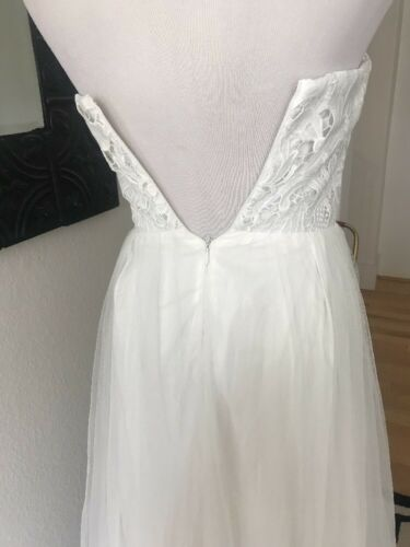 c8aba34e7fa 2 of 4 Lulus Ivory White Tulle Lace Wedding Gown Dress Bridesmaid Formal  Prom XS S M