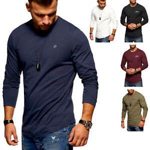 Jack-amp-Jones-Hommes-Chemise-manches-longues-Oversize-Chemise-Longue-O-Neck-hommes-shirt-Casual