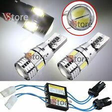 2 Lampade T10 LED 6 SMD HID Canbus 5630 BIANCO Luci No Errore CDB + 2 RESISTENZE