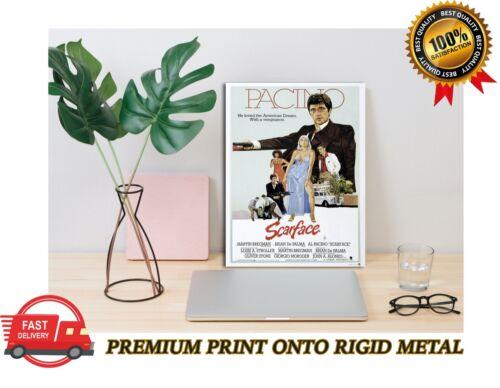 Scarface Al Pacino Classic Movie Premium METAL Poster Art Print Gift