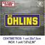 Sticker-Vinilo-Decal-Vinyl-Aufkleber-Adesivi-Autocollant-Ohlins-Suspension-AZOSS miniatura 8