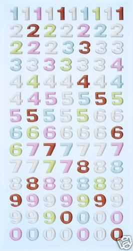cifras trazos pastel Softy-sticker 3451131 nuevo