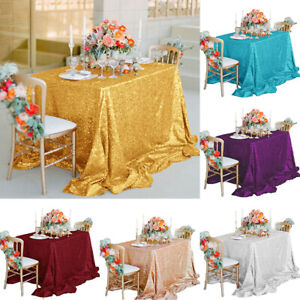 Am-New-Sparkly-Sequin-Tablecloth-130cm-Square-For-Wedding-Dessert-Table-Decor-T