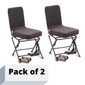 Swivel-Hunting-Chair-Black-360-Degree-Oversized-Backrest-Padded-Comfortable-2-pk
