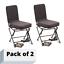 Swivel-Hunting-Chair-Black-360-Degree-Oversized-Backrest-Padded-Comfortable-2-pk thumbnail 1
