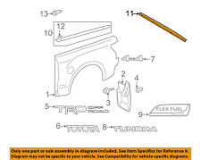 TOYOTA OEM 07-13 Tundra Pick Up Box Bed-Gravel Deflector Left 756410C050