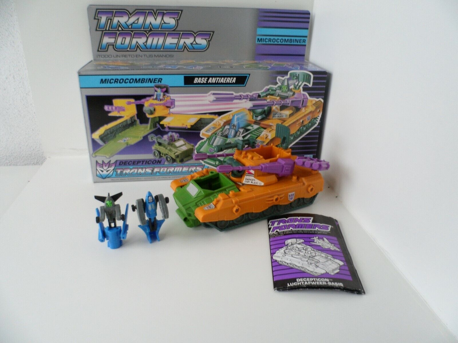 Anti-Aircraft Base Micromaster Micromaster Micromaster MIB 100% completare 1989 Vintage G1 Transformers 33b9a2