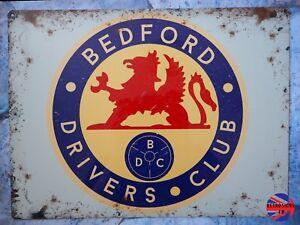 VAUXHALL BEDFORD DRIVERS CLUB VINTAGE TIN SIGN GARAGE ESCORT, ZEPHYR, CORTINA