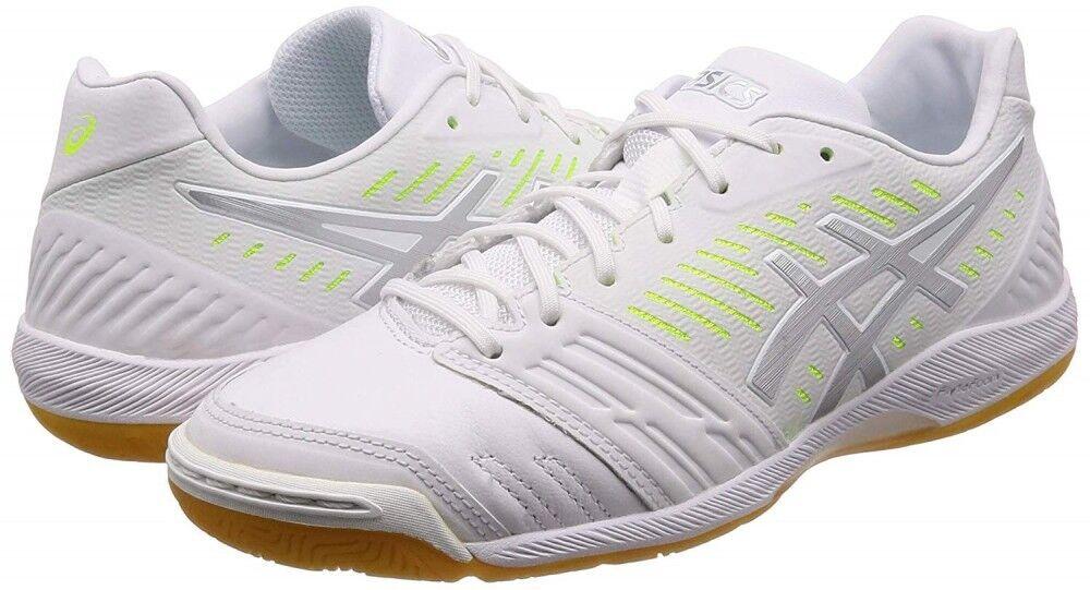 Nuevos Zapatos De Futsal Fútbol Fútbol Asics destaque FF 1111A005 blancoo Con Seguimiento