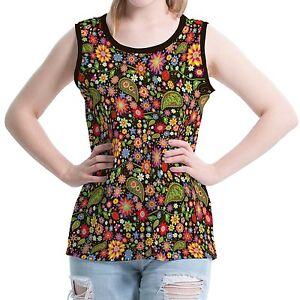 Paisley-Summer-Flowers-Women-Round-Neck-Vest-Tops-Tank-Sleeveless-b36-acr00809