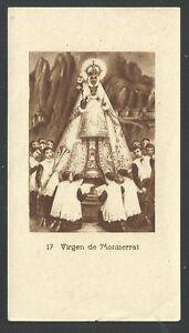 image pieuse ancianne de la Virgen de Montserrat santino holy card estampa AuMNADtI-09100346-298528733