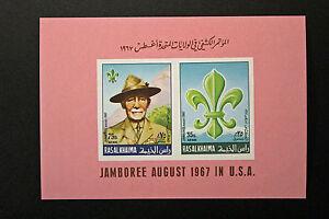 Briefmarke Saudi/ Arabien Ras Al Khaima Yvert & Tellier Block 6 Luft-n y2 Sonstige