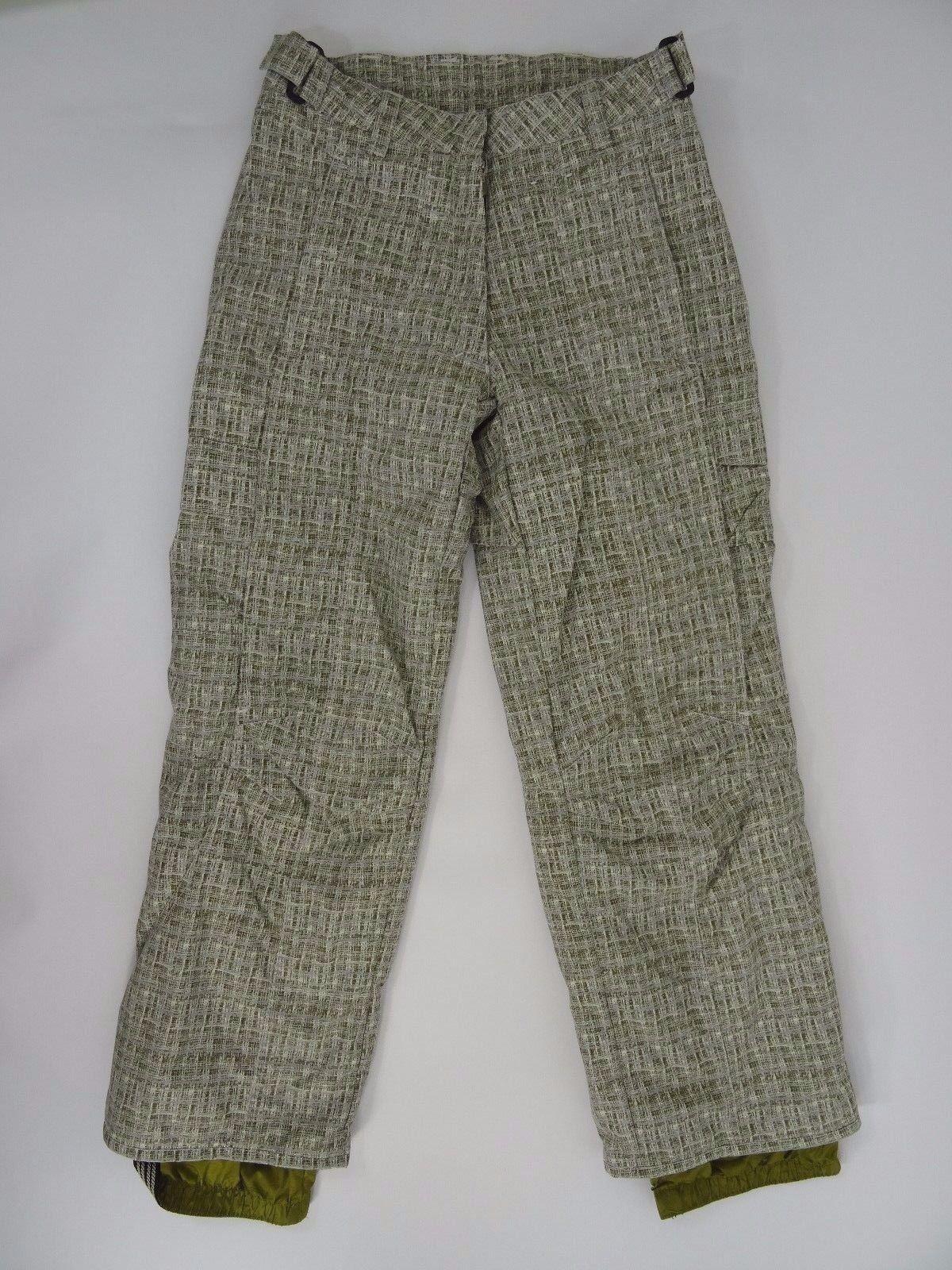 Obermeyer Snowboard Pants Green Plaid Womens size 4
