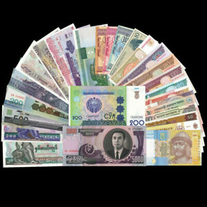Lot-32-Pieces-PCS-Different-MIX-world-Notes-From-32-Foreign-Countries-UNC